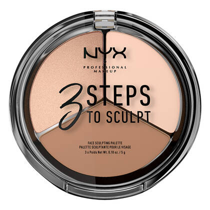 3 Steps to Sculpt Face Sculpting Παλέτα Highlighter